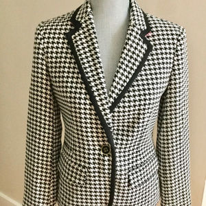 Merona Houndstooth  Black and White Blazer Jacket